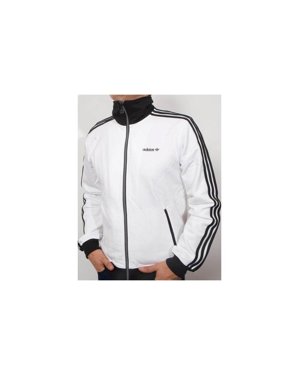 BECKENBAUER TRACK JACKET Man White black Adidas