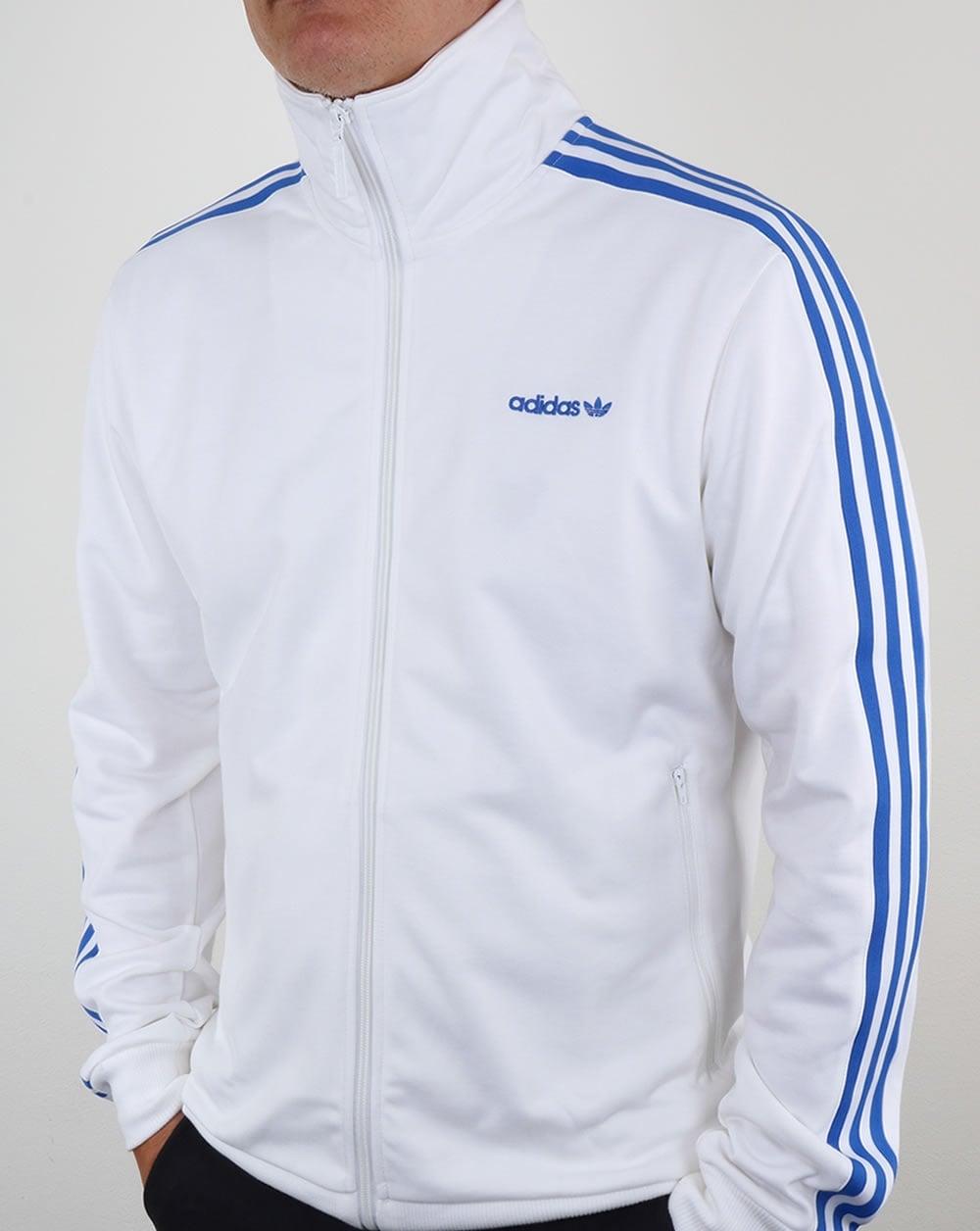 adidas blue beckenbauer jacke