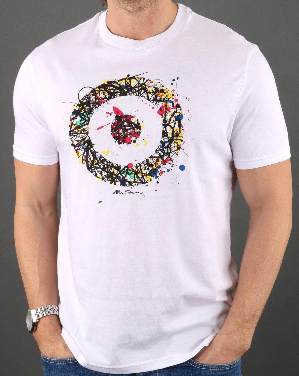 Ben Sherman Painted Target T shirt White