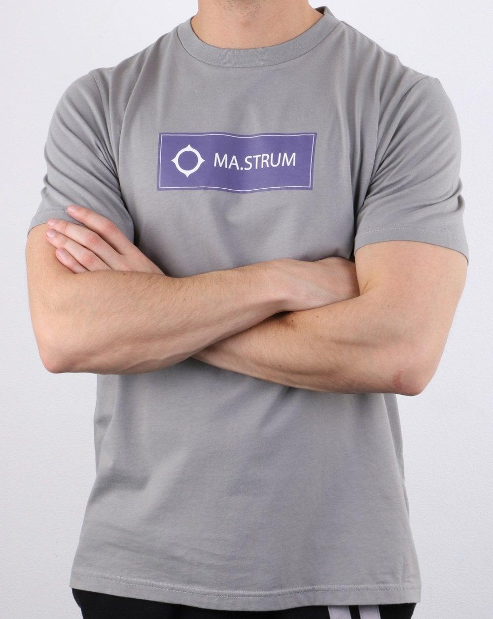 Strum Herren Icon Box Logo T Shirt Optik weiß Oase MA