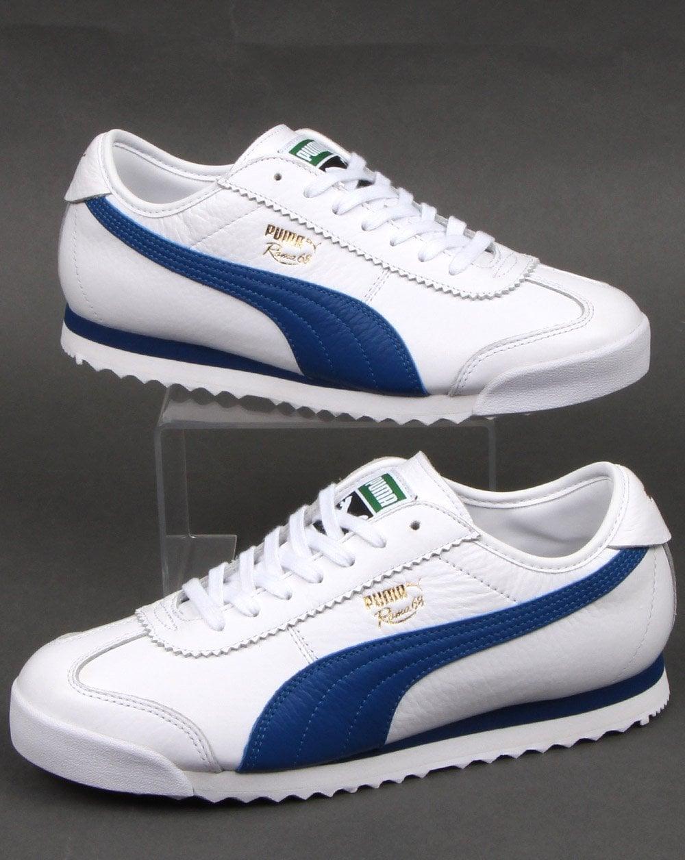 Puma Roma 68 Vintage Trainers Whitegalaxy Blue